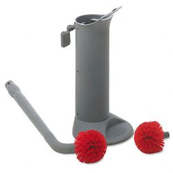 Ergo Toilet Bowl Brush System with Holder (UNGBBWHR)