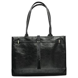"Kelly Bag Business Case Genuine Leather 17"" x 6"" x 12"" Black (BUXOC400T59BK)"