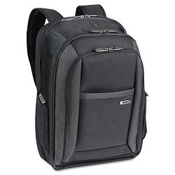 "CheckFast Laptop Backpack Ballistic Poly 13 34"" x 6 12"" x 17 34"" Black (USLCLA7034)"