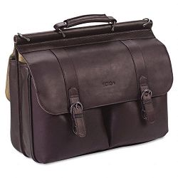 "Leather Laptop Portfolio Leather 16-12"" x 5"" x 13"" Espresso (USLD5353)"