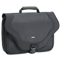 "17"" Laptop Messenger Bag PolyTwist 18"" x 4"" x 13"" Black (USLPT9204)"