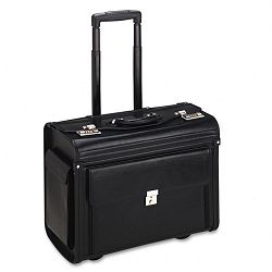"Rolling ComputerCatalog Case Vinyl 19"" x 9"" x 14"" Black (IVR12000)"