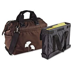 "Overnight Tote Bag 1680-Denier Ballistic Nylon 9"" x 16-12"" x 14 Brown (AUE18000)"