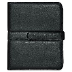 "Faux Leather Easel iPad Case 10.063"" x 1.125"" x 8.125"" Black (BUXOC402I15BK)"