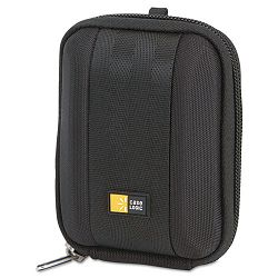 "Compact Camera Case with EVA Shell PolyesterEVA 3-12"" x 1-25"" x 4-12"" Black (CLGQPB201)"