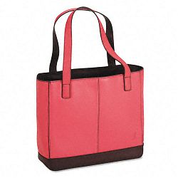 "Leather Tote 11-12"" x 4"" x 10"" Pink (DTM48420)"