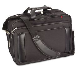 "Airport Check-In Friendly 16"" Laptop Shoulder Bag with Cable Pouch Black (IVR22000)"