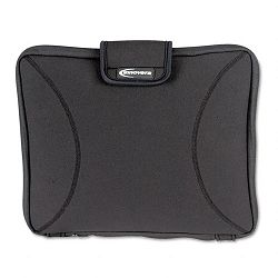"Neoprene Laptop Sleeve Fits to 15-610"" Zippered with Handles Black (IVR36030)"