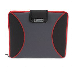 "Neoprene Laptop Sleeve Fits to 15-610"" Zippered with Handles RedBlack (IVR36031)"