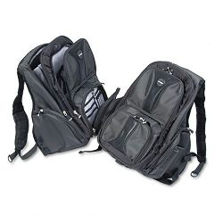 "Contour Laptop Backpack Nylon 15 34"" x 9"" x 19 12"" Black (KMW62238)"