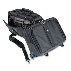 "Contour Roller Laptop Case Nylon 17-12"" x 9-12"" x 13"" Black (KMW62348)"