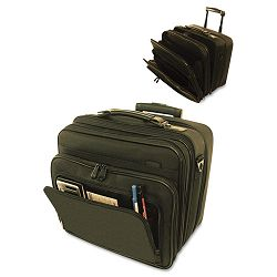 "Computer Bag on Wheels Ballistic Nylon 16"" x 9"" x 14-12"" Black (STB263700BLK)"