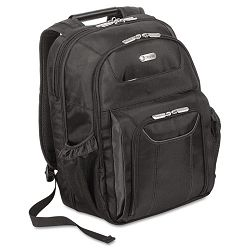 "Zip-Thru Air Traveler Backpack Fits 15.8"" Widescreen Laptop Polyester Black (TRGTBB012US)"