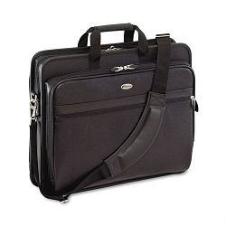 "Laptop Case Leather 17-12"" x 6-12"" x 13-12"" Black (TRGTLE400)"