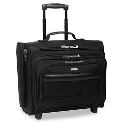 "Rolling Laptop CaseOvernighter Ballistic Poly 16-12"" x 6.5"" x 13"" Black (USLB644)"