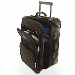 "Rolling ComputerCarry-On Case Nylon 14"" x 9"" x 21-12"" Black (BND469000BLK)"