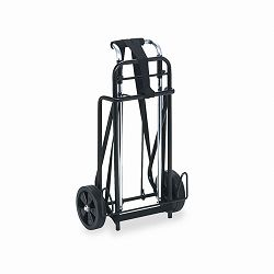 "Luggage Cart 175lb Capacity 12"" x 10-34"" Platform BlackChrome (IVR14201)"
