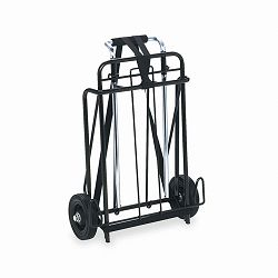 "Luggage Cart 250lb Capacity 15"" x 14"" Platform BlackChrome (IVR14301)"