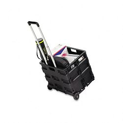 "Stow And Go Cart 16-12"" x 14-12"" x 39"" Black (SAF4054BL)"