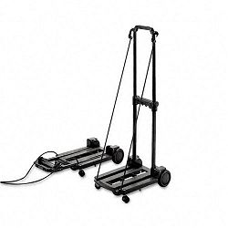 "Three-Way LuggageDolly Cart 150lb Cap 18-34"" x 10"" Platform Black (STB390006BLK)"