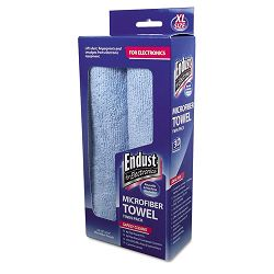 "Large-Sized Microfiber Towels Two-Pack 15"" x 15"" Unscented Blue 1 Pack of Two (END11421)"