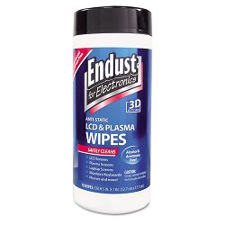 Antistatic Cleaning Wipes Premoistened 70Canister (END11506)