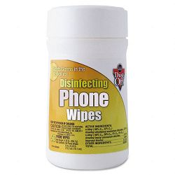 "Premoistened Phone Wipes Cloth 6"" x 6-38"" Tub of 50 (FALDDFT)"