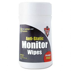 "Premoistened Monitor Cleaning Wipes Cloth 6"" x 6"" Tub of 80 (FALDSCT)"