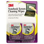 "Notebook Screen Cleaning Wet Wipes Cloth 7"" x 4"" White Pack of 24 (MMMCL630)"