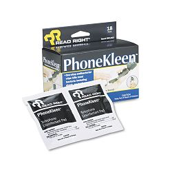 "PhoneKleen Wet Wipes Cloth 5"" x 5"" Box of 18 (REARR1203)"