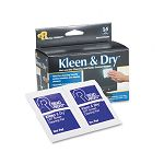 "Kleen & Dry Screen Cleaner Wet Wipes Cloth 5"" x 5"" Box of 14 (REARR1205)"