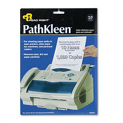 "PathKleen Printer Roller Cleaner Sheets 8 12"" x 11"" Pack of 10 (REARR1237)"