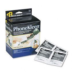 "PhoneKleen Wet Wipes Cloth 5"" x 5"" Box of 72 (REARR1303)"