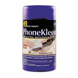 "PhoneKleen Wet Wipes Cloth 5"" x 6"" Tub of 50 (REARR1403)"