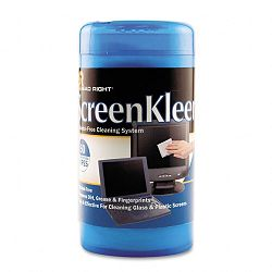 "ScreenKleen Monitor Screen Wet Wipes Cloth 5-14"" x 5-34"" Tub of 50 (REARR1491)"