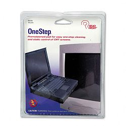 "OneStep CRT Screen Cleaning Pads 5"" x 5"" Cloth White Box of 100 (REARR1309)"