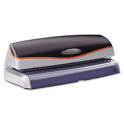 Optima 20-Sheet Capacity Electric Three-Hole Punch Silver (SWI74520)