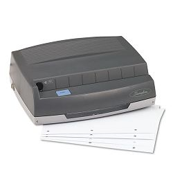 "50-Sheet 350MD Electric Three Hole Punch 14"" Hole Gray (SWI9800350)"