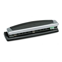 "10-Sheet Precision Pro Desktop Two- and Three-Hole Punch 932"" Diameter Holes (SWI74037)"