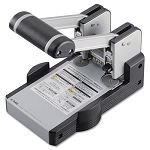 "100-Sheet Heavy-Duty XHC-2100 Two-Hole Punch 932"" Diameter Hole BlueGray (CUI62100)"
