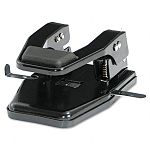 "40-Sheet Heavy-Duty Two-Hole Punch 932"" Diameter Hole Padded Handle Black (MATMP250)"