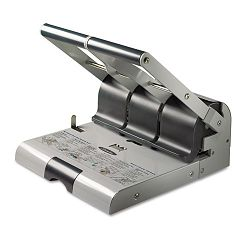 "160-Sheet Heavy-Duty Two- or Three-Hole Punch 932"" Diameter Hole PuttyGray (SWI74650)"