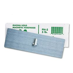 "Magnetic Picture Hanger 2"" x 6"" 5-lb Capacity Steel Hook Satin Steel Finish (MAVPH5)"