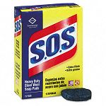 S.O.S Steel Wool Soap Pad 15 PadsBox (COX88320BX)