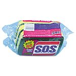 "S.O.S Heavy-Duty Scrubber Sponge 3"" x 5-14"" 1"" Thick Carton of 24 (COX91029CT)"