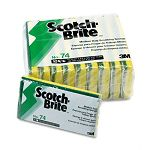 "Medium-Duty Scrubbing Sponge 3-12"" x 6-14"" Pack of 10 (MMM74CC)"