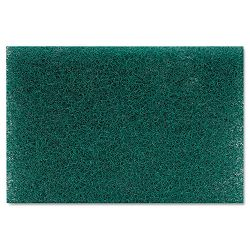 "Heavy Duty Scour Pad Green 6"" x 9"" Carton of 15 (PMP186)"