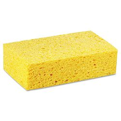 "Large Cellulose Sponge 4.27"" x 7.8"" Yellow Carton of 24 (PMPCS3)"