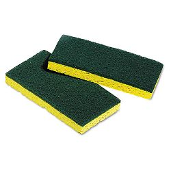 "Medium-Duty Scrubbing Sponges 3-38"" x 6-14"" 5 SpongesPack (UNS03006)"