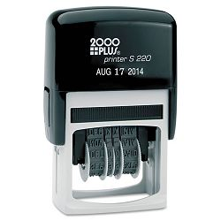 2000 PLUS Economy Dater Self-Inking Black (COS010129)